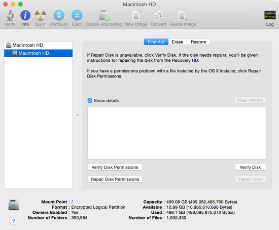 how to Repair Disk Permissions in Disk utility 2