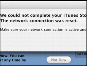 itunes connection reset